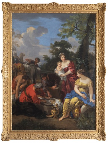 """Laban seeking his idols"" 17th century, Follower of Pierre de Cortone."