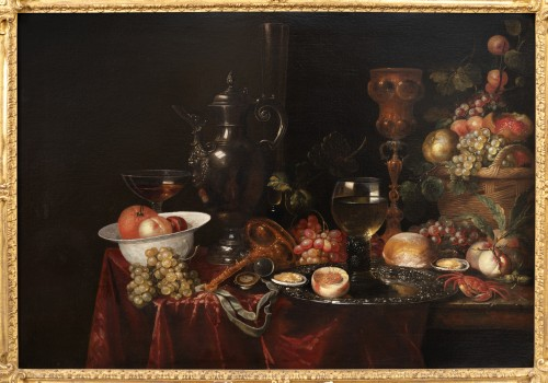 Paintings & Drawings  - Still life of the 17th century attributed to Alexandre Coosemans 1627-1689