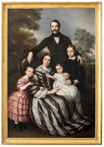 Louis Krevel, Portrait de famille, d'Emil Albano Korte et de sa famille, vers 1856