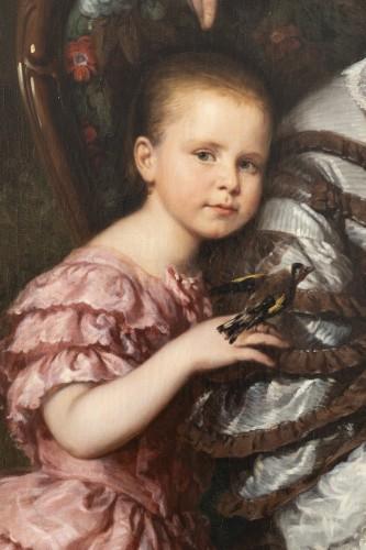 Paintings & Drawings  - Louis Krevel, Portrait de famille, d'Emil Albano Korte et de sa famille, vers 1856