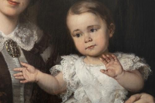 Louis Krevel, Portrait de famille, d'Emil Albano Korte et de sa famille, vers 1856 - Napoléon III