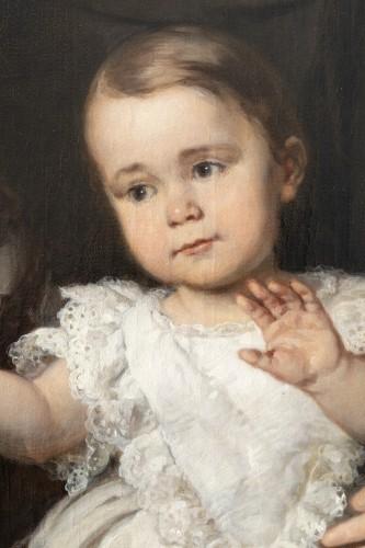 Napoléon III - Louis Krevel, Portrait de famille, d'Emil Albano Korte et de sa famille, vers 1856