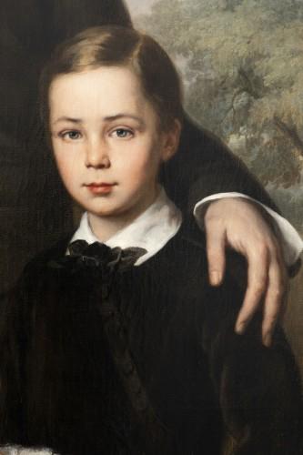 Antiquités - Louis Krevel, Portrait de famille, d'Emil Albano Korte et de sa famille, vers 1856