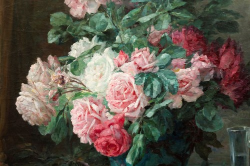 Napoléon III -  Furcy de Lavault (1847-1915) - Still life of roses and plums