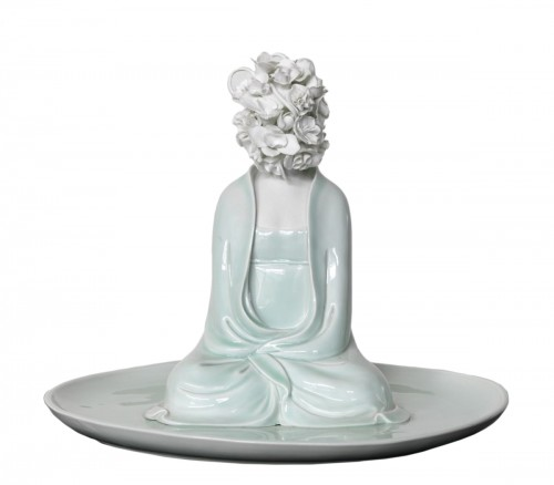 "Sculpture by Xiao Fan Ru ""Ode of Meditation"" 2012"