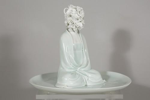 """Antiquités - Sculpture by Xiao Fan Ru """"Ode of Meditation"""" 2012"""