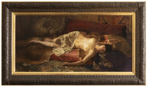 Portrait of a woman lying - Pierre Joseph Mousset (1850-1894)