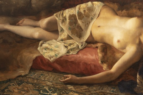 Portrait of a woman lying - Pierre Joseph Mousset (1850-1894) -