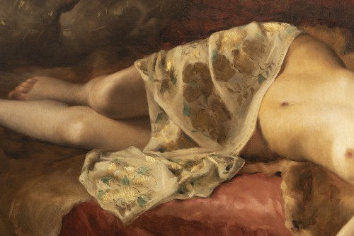 Napoléon III - Portrait of a woman lying - Pierre Joseph Mousset (1850-1894)