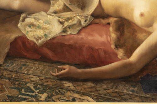Antiquités - Portrait of a woman lying - Pierre Joseph Mousset (1850-1894)