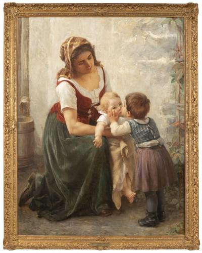 he Kiss -  Timoléon Marie Lobrichon (1831-1914)