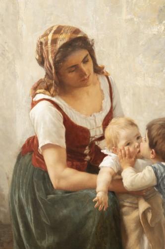 he Kiss -  Timoléon Marie Lobrichon (1831-1914) -