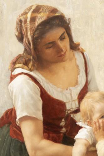19th century - he Kiss -  Timoléon Marie Lobrichon (1831-1914)