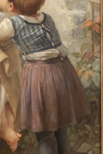 Antiquités - he Kiss -  Timoléon Marie Lobrichon (1831-1914)