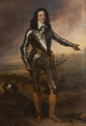 Portrait of Captain J.P of Sykehouse assigned Adriaen Hanneman (1603-1671) - Paintings & Drawings Style Louis XIV