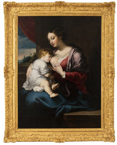 Portrait of the virgin with the child, around 1675.