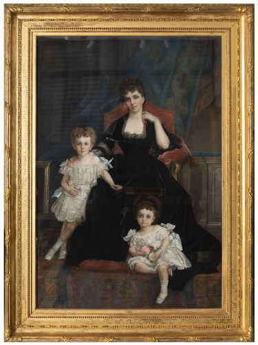 Family portrait of the Duchess of Lyunes and Chevreuse - Monogram C.C 1877