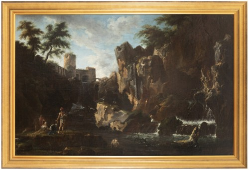 View of the waterfalls of Tivoli - Circle of Claude Joseph Vernet