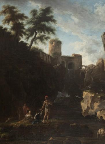 View of the waterfalls of Tivoli - Circle of Claude Joseph Vernet  - Paintings & Drawings Style