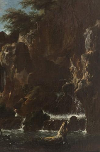 Paintings & Drawings  - View of the waterfalls of Tivoli - Circle of Claude Joseph Vernet