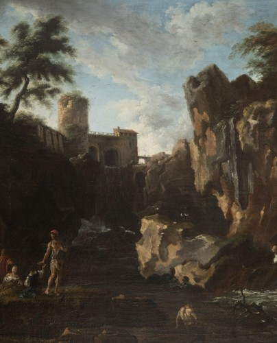 18th century - View of the waterfalls of Tivoli - Circle of Claude Joseph Vernet