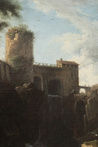 - View of the waterfalls of Tivoli - Circle of Claude Joseph Vernet