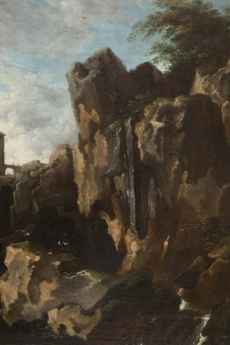 Antiquités - View of the waterfalls of Tivoli - Circle of Claude Joseph Vernet