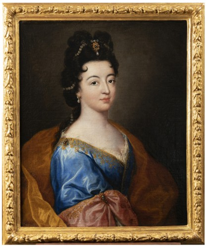Portrait of an elegant - Attributed to Alexis Simon Belle (1674-1734)