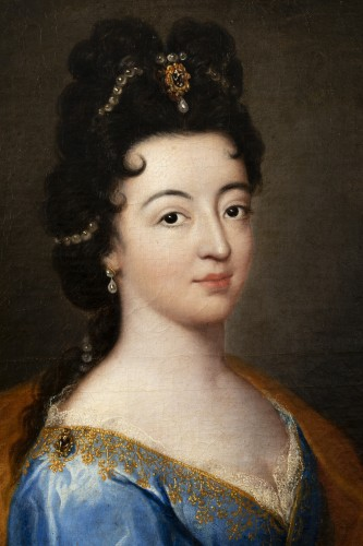 Paintings & Drawings  - Portrait of an elegant - Attributed to Alexis Simon Belle (1674-1734)