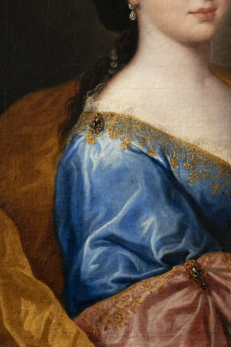 French Regence - Portrait of an elegant - Attributed to Alexis Simon Belle (1674-1734)