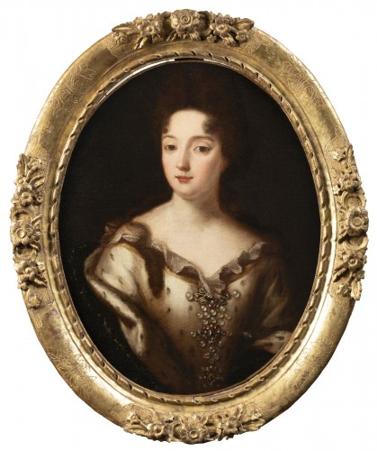 Portrait of a noble under the reign of Louis XIV - Entourage of P. Mignard