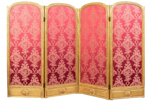 Screen carved and gilded Louis XVI, late 18th century