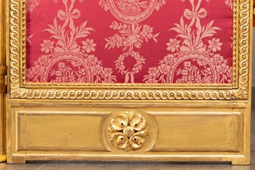 Screen carved and gilded Louis XVI, late 18th century -