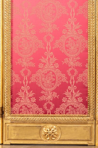 18th century - Screen carved and gilded Louis XVI, late 18th century