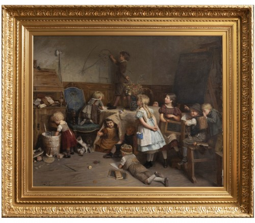 Eduard Schulz-Briesen (1831-1891) - School Recess, circa 1875