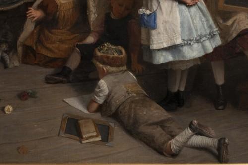 Paintings & Drawings  - Eduard Schulz-Briesen (1831-1891) - School Recess, circa 1875