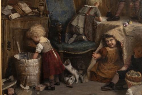 Eduard Schulz-Briesen (1831-1891) - School Recess, circa 1875 -