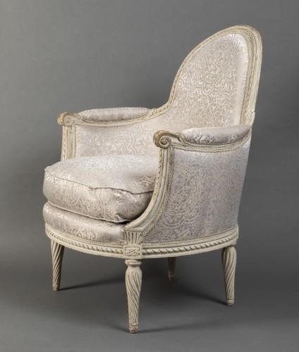 Seating  - Pair of Louis XVI bergeres  Stamped Delanois