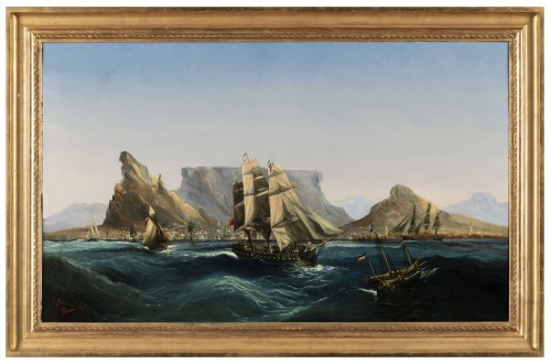 Marine - Table Bay by Chéri François Dubreuil (1828-1880)