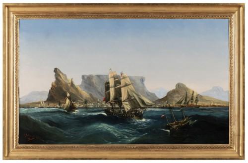 Marine - Table Bay by Chéri François Dubreuil (1828-1880)