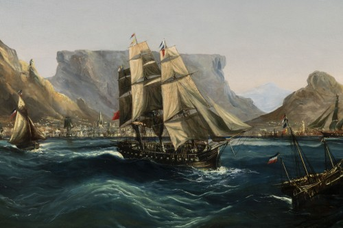 Paintings & Drawings  - Marine - Table Bay by Chéri François Dubreuil (1828-1880)