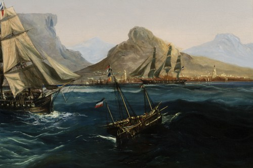 19th century - Marine - Table Bay by Chéri François Dubreuil (1828-1880)
