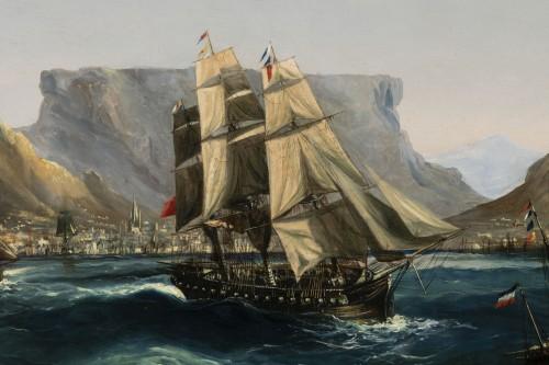 Marine - Table Bay by Chéri François Dubreuil (1828-1880) - Napoléon III