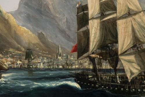 Antiquités - Marine - Table Bay by Chéri François Dubreuil (1828-1880)