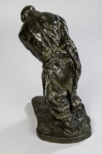 Bernhard HOETGER (1874-1949) - Le Haleur - Sculpture Style
