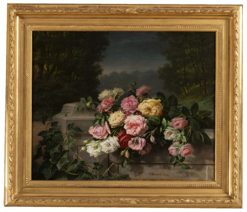 Throwing roses - Jean Bonnet 1878