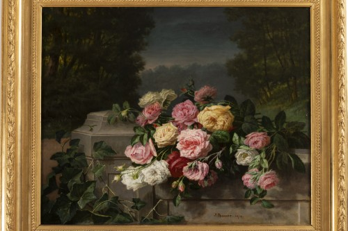 Throwing roses - Jean Bonnet 1878 - Paintings & Drawings Style Napoléon III