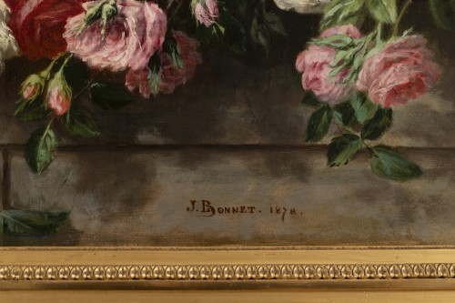 19th century - Throwing roses - Jean Bonnet 1878