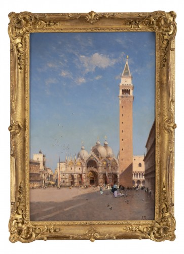 Amédée Rosier (1831 - 1898) Venice, Saint Mark's Square