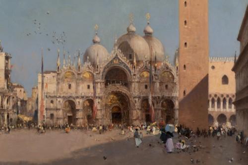 Paintings & Drawings  -  Amédée Rosier (1831 - 1898) Venice, Saint Mark's Square